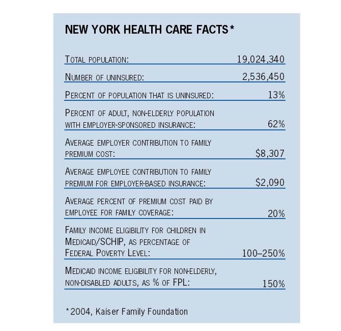 New York Health Care Facts